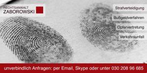 Strafrecht Fingerabdruck