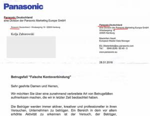 Brief vom Phishing Spammer